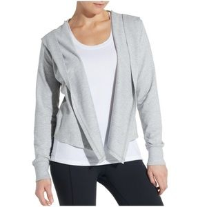 CALIA Effortless Cozy Cardigan Hooded Heather Gray